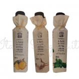 tris lemon garlic basil 157x157 - Tris flavoured extra virgin olive oil: lemon, garlic, basil - 3 bottles x 100 ml