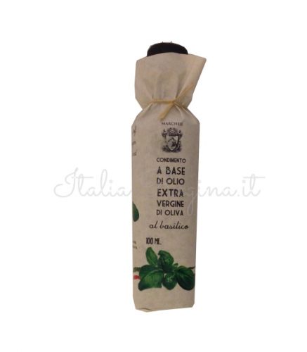 basil oil 437x500 - Italian Extra Virgin Basil Olive Oil 100 ml - Marchesi