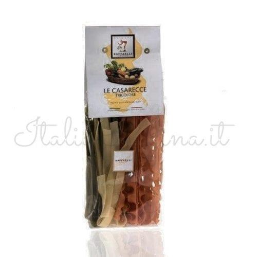 Italian Pasta Tricolour Casarecce - Raffaelli