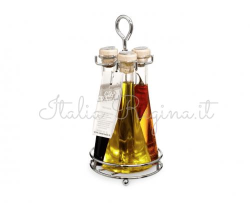 tris casa rinaldi 500x406 - Extra Virgin Oil + Chili Oil + Balsamic Vinegar