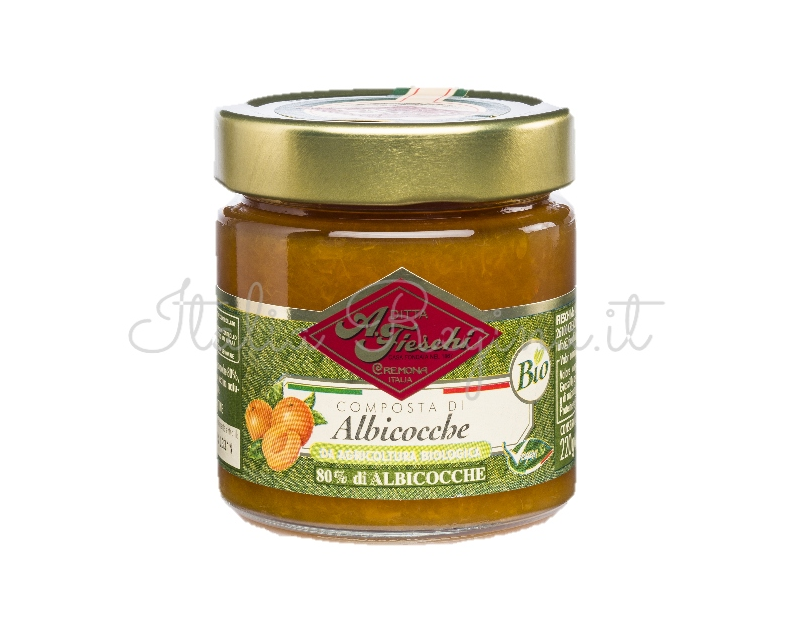 albicocche - Fruit composed of 80%: Apricots, 230 gr - Fieschi 1867