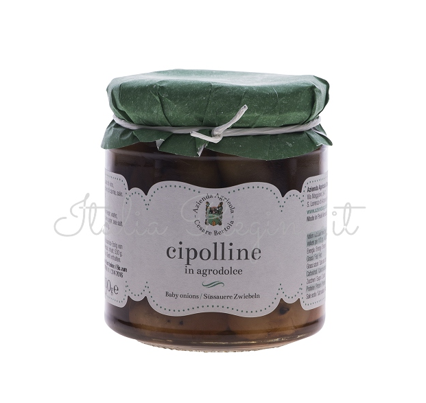 cipolline agrodolce - Sweet-and-sour baby Onions, 290 gr - Azienda Agricola Cesare Bertoia