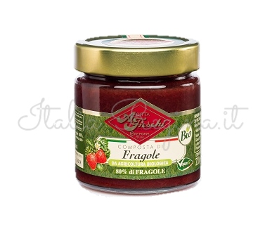 fragole bio - Fruit composed of 80%: Strawberries, 230 gr - Fieschi 1867