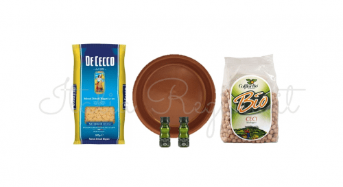 hamper pasta e ceci 500x273 - Pasta and Chickpeas Bio Hamper