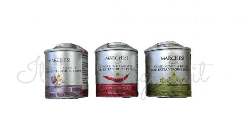 tris garlic pepper oregano 500x262 - Tris Garlic, Hot Chilli Pepper, Oregano extra virgin olive oil