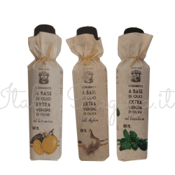 tris lemon garlic basil 250x250 - Tris flavoured extra virgin olive oil: lemon, garlic, basil - 3 bottles x 100 ml