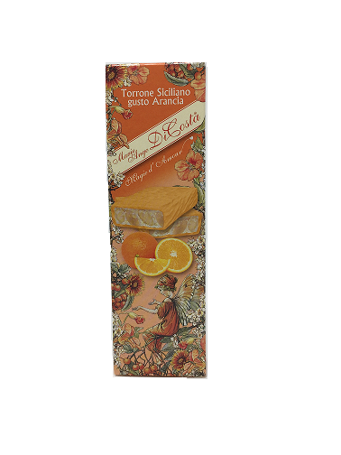 arancia scont - Orange-flavored Sicilian Soft Nougat