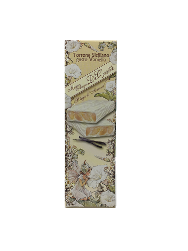 vaniglia scont 1 - Vanilla-flavored Sicilian Nougat with white chocolate coating