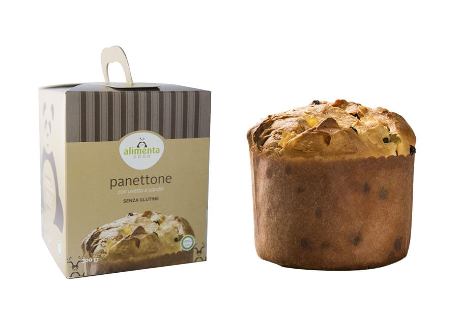 Gluten Free Panettone with raisins and candied fruit – 300g