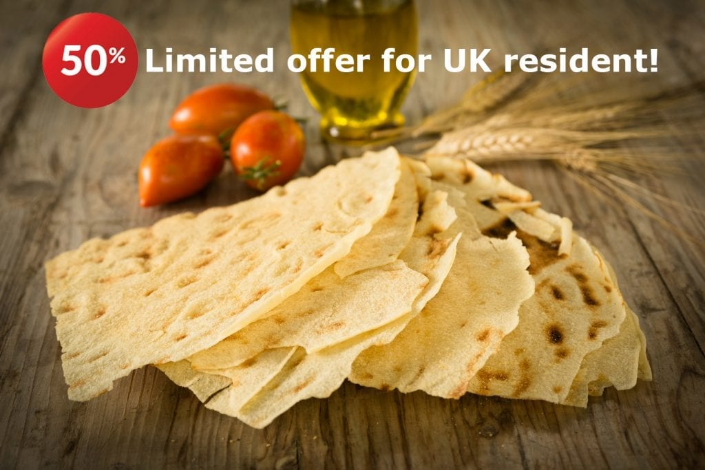 Offer 1024x683 - PROMO FLASH: Carasau Bread 250gr reduced to 50%