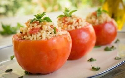 Mozzarella Stuffed Tomatoes