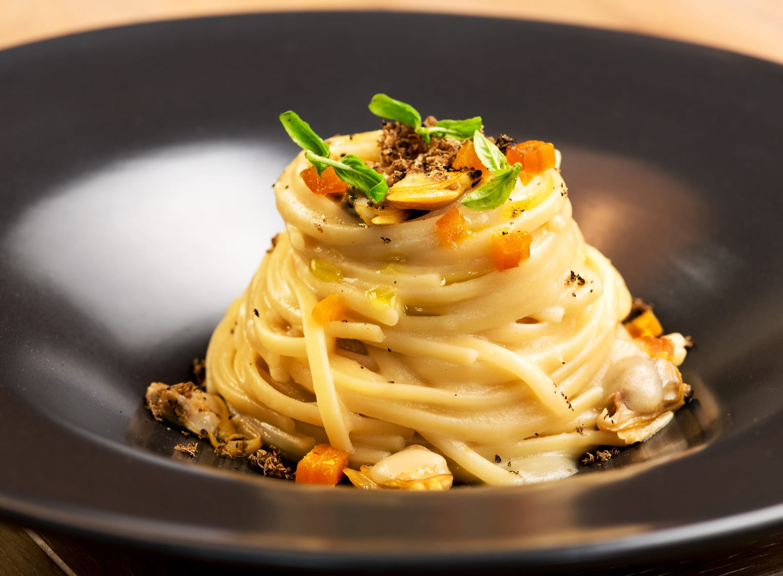 Gourmet Appetizer With Linguine Clams And Truffle Buy