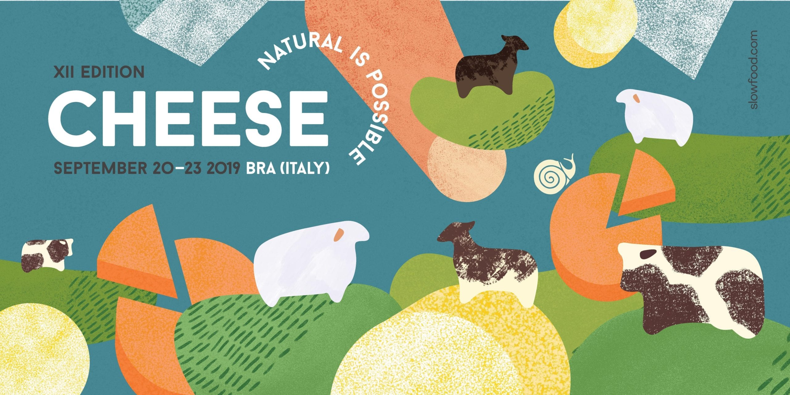 poster with cheese and farm animals
