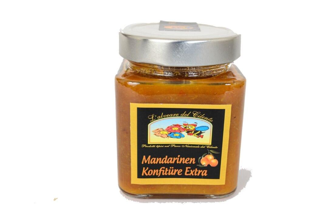 Mandarins Jam Glass Jar – 100 gr