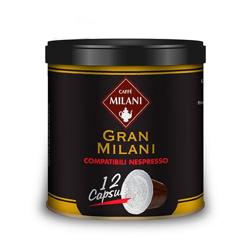 12 Italian Nespresso Coffee Capsules Gran Milani