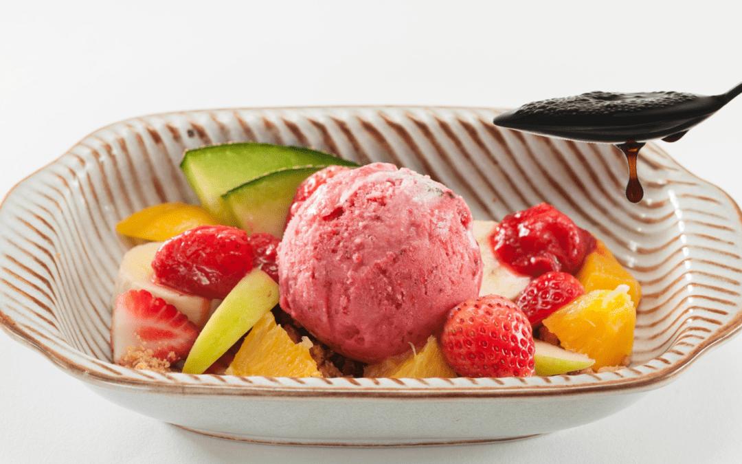 Recipe: Fruit Salad, Balsamic Vinegar PDO and Ice Cream